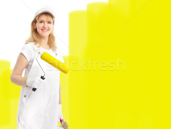 Painter woman Stock photo © Kurhan