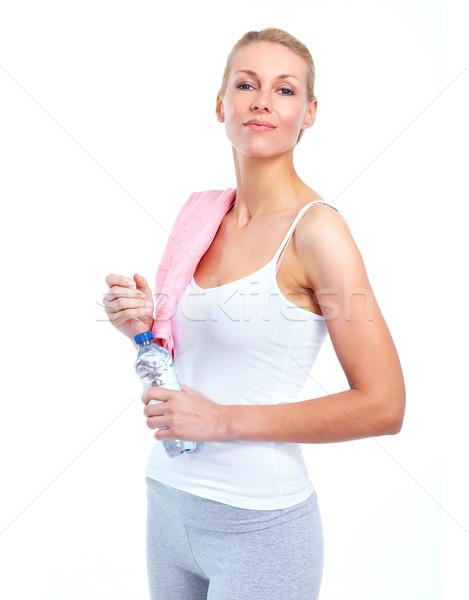 Stock photo: Fitness woman.