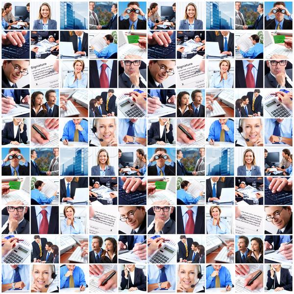 Kolaż ludzi biznesu grupy biznesmenów business woman działalności Zdjęcia stock © Kurhan