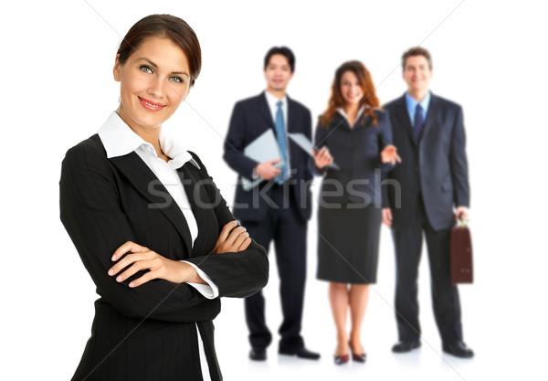Mujer grupo gente de negocios aislado blanco oficina Foto stock © Kurhan