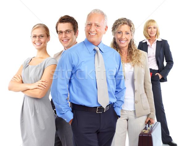 Foto stock: Gente · de · negocios · grupo · aislado · blanco · mujer · sonrisa