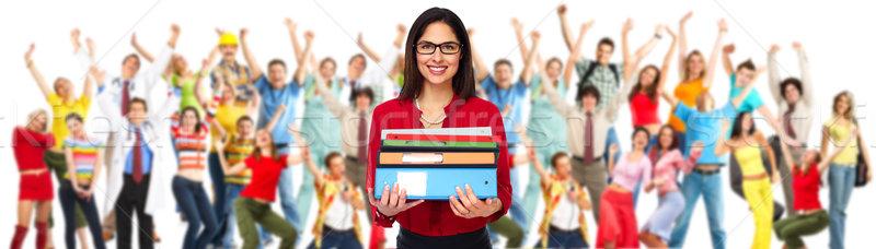 студент женщину книгах молодые исследование образование Сток-фото © Kurhan