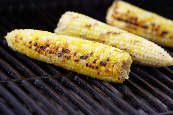 Corn roast on barbecue grille. Stock photo © Kurhan