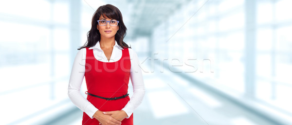 Beautiful asian business woman. Stock photo © Kurhan