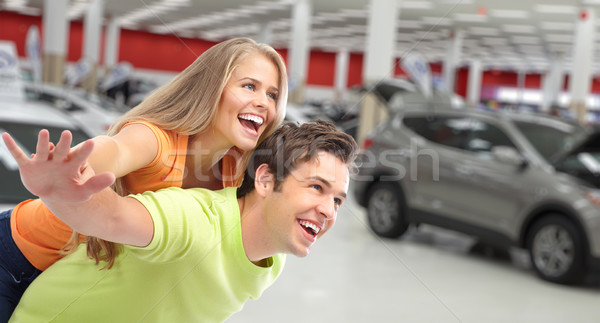 Happy couple near new car. Stock photo © Kurhan