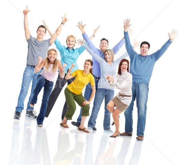 幸せな人々  グループ 幸せ 笑みを浮かべて 人 白 ストックフォト © Kurhan