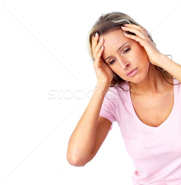 Young woman having a headache. Stock photo © Kurhan