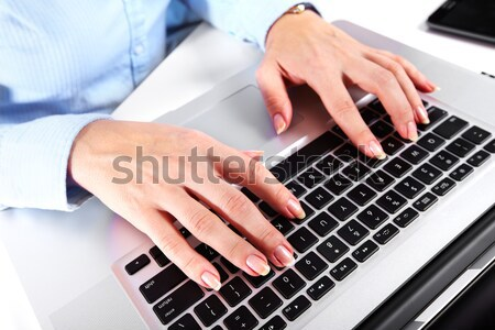 Hands with a computer keyboard. Stock photo © Kurhan
