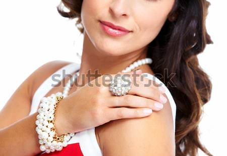 Woman with jewelry portrait. Stock photo © Kurhan