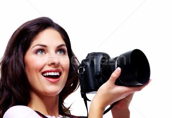 Woman with a photo camera. Stock photo © Kurhan