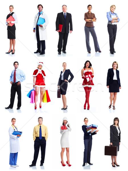 Grupo pessoas de negócios isolado branco negócio homem Foto stock © Kurhan