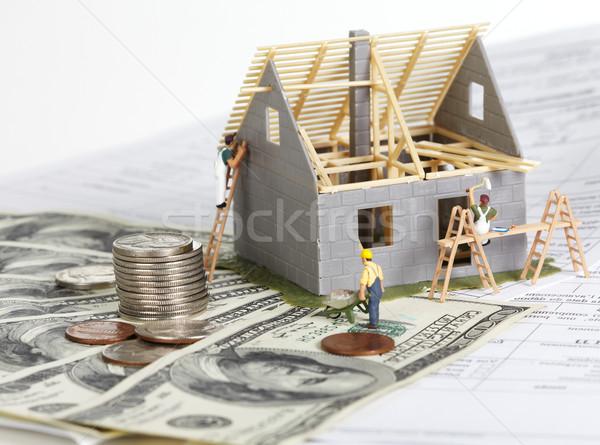 House under construction. Stock photo © Kurhan