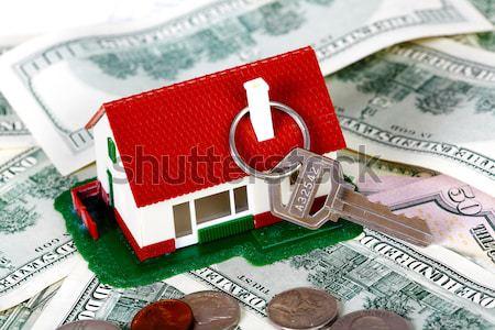 Stockfoto: Huis · calculator · geld · onroerend · ontwerp · home