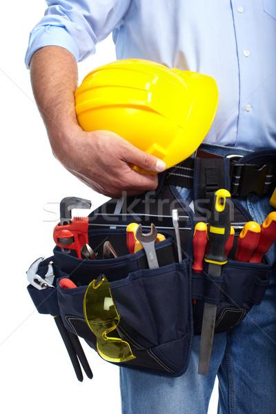 Worker with a tool belt. Construction. Stock photo © Kurhan