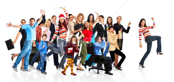 Heureux drôle personnes isolé blanche famille Photo stock © Kurhan