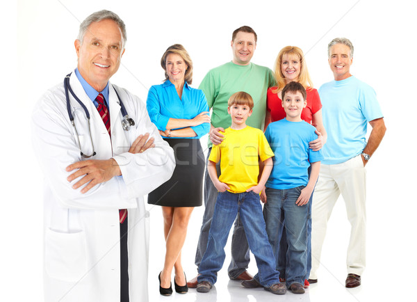 doctor and family Stock photo © Kurhan
