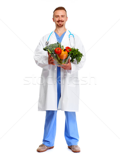 Doctor nutritionist  with vegetables. Stock photo © Kurhan
