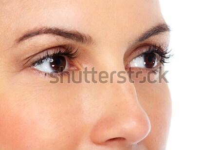 Beautiful young woman eyes. Stock photo © Kurhan