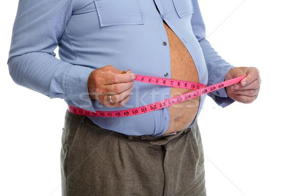 Grubas brzuch zdrowia tle Zdjęcia stock © Kurhan