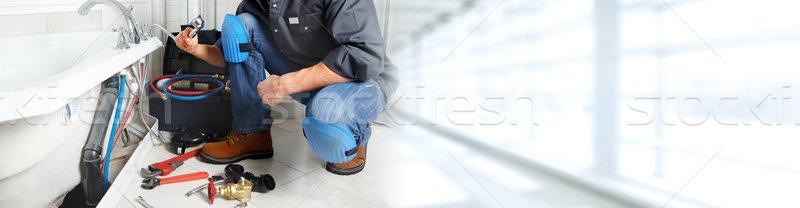 Plombier bain construction maison Photo stock © Kurhan