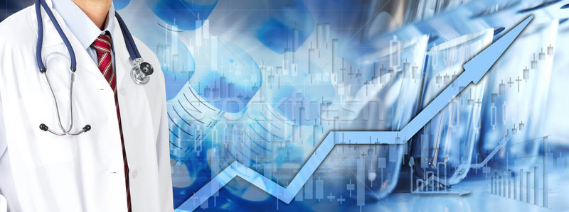 Health care stock market background Stock photo © Kurhan