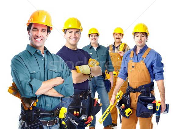 Group of professional industrial workers. Stock photo © Kurhan