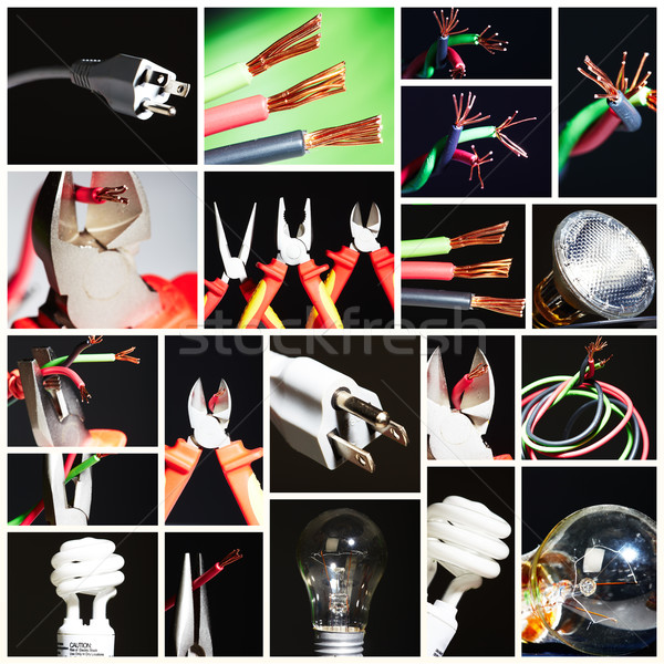Collage of electrical instruments. Stock photo © Kurhan