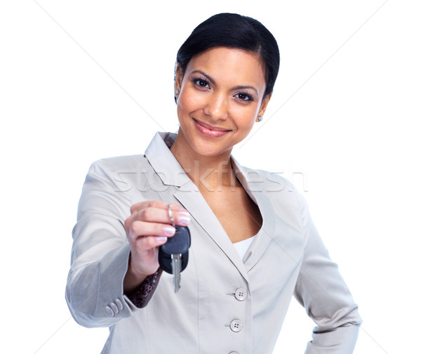 Woman with a car keys. Stock photo © Kurhan