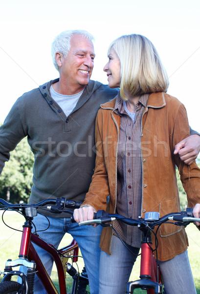 Stok fotoğraf: Mutlu · bisikletçi · adam · spor