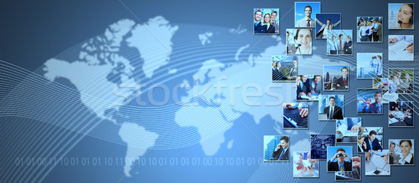 Business collage background. Stock photo © Kurhan