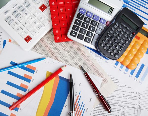 Calculadora escritório objetos contabilidade financeiro serviço Foto stock © Kurhan