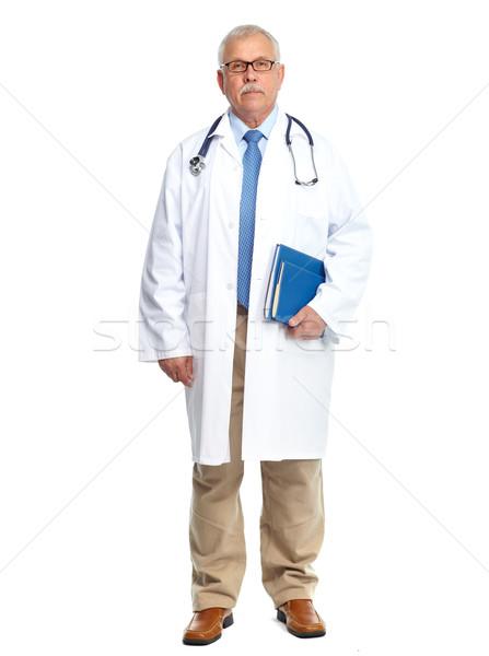 Lekarza lekarz stałego odizolowany biały człowiek Zdjęcia stock © Kurhan