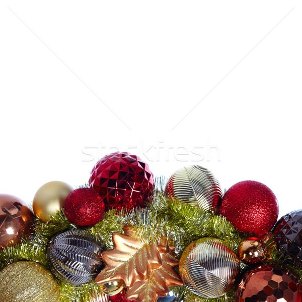 クリスマス 装飾 孤立した 白 花輪 クリスマス ストックフォト © Kurhan