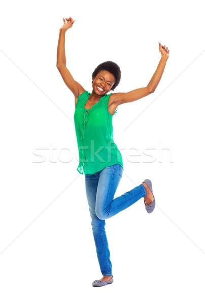 Happy African woman Stock photo © Kurhan