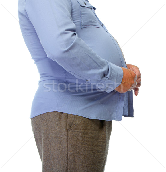 Fat man belly. Stock photo © Kurhan