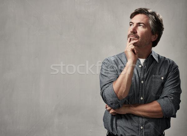 Thinking man Stock photo © Kurhan