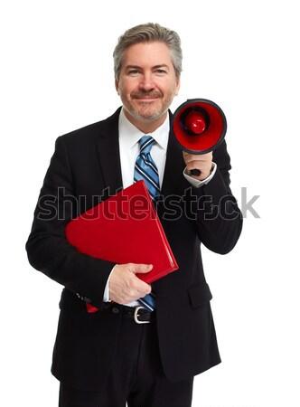 Man with megaphone Stock photo © Kurhan