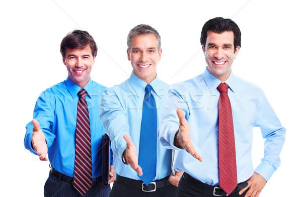 Stock fotó: üzletemberek · csapat · csoport · mosolyog · üzleti · csapat · kéz