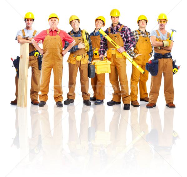Сток-фото: группа · профессиональных · промышленных · рабочие · изолированный · белый