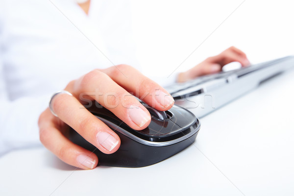 Hands with a keyboard. Stock photo © Kurhan