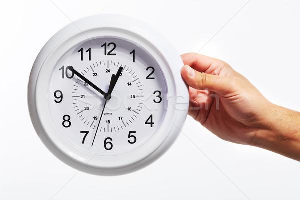 Hand with alarm clock. Stock photo © Kurhan