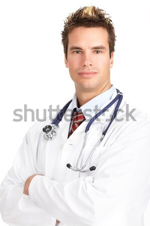 doctor with stethoscope Stock photo © Kurhan
