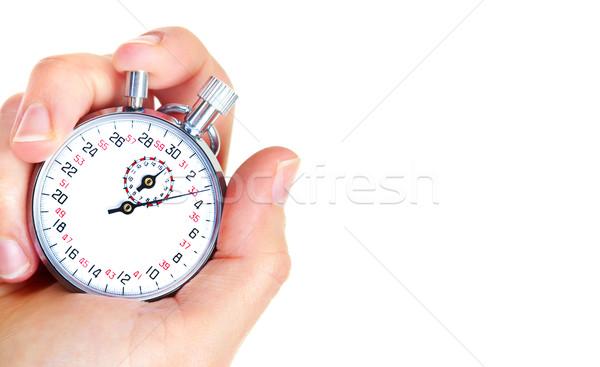 Mecânico cronômetro isolado branco mãos ver Foto stock © Kurhan