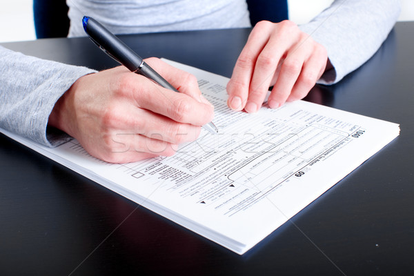 Stock photo: Form 1040. Income Tax Return