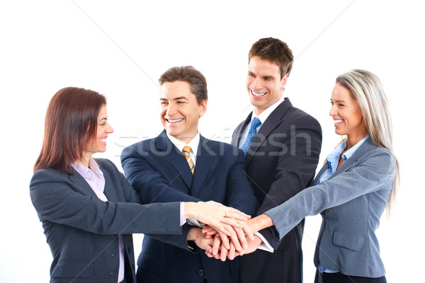 ストックフォト: ビジネスチーム · 笑みを浮かべて · ビジネスの方々 · チーム · 作業 · オフィス