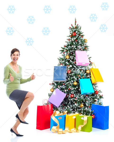 Christmass woman Stock photo © Kurhan