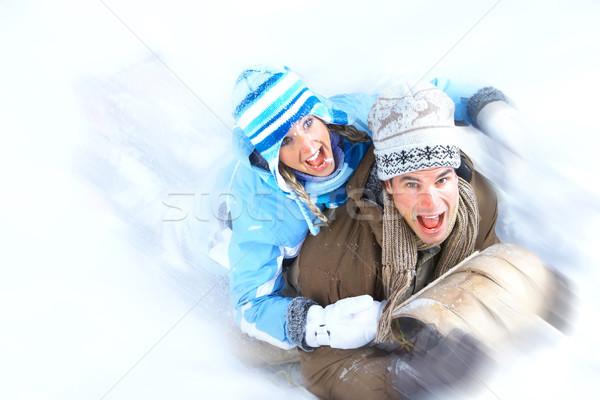 Stock photo: sledging.
