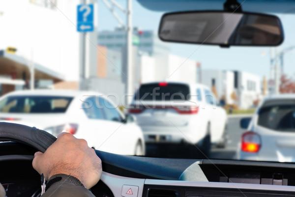 Strony człowiek jazdy autostrady kierowcy ubezpieczenia Zdjęcia stock © Kurhan