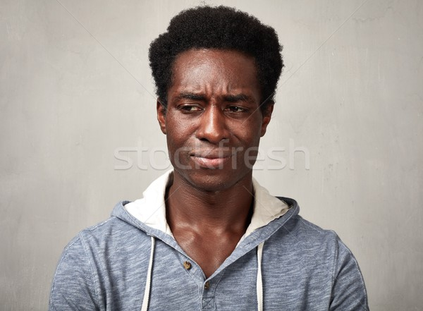 Sad black man Stock photo © Kurhan