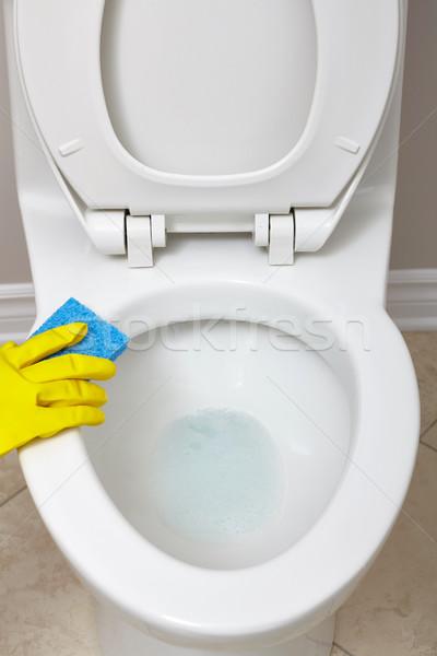 Toilet bowl cleaning. Stock photo © Kurhan